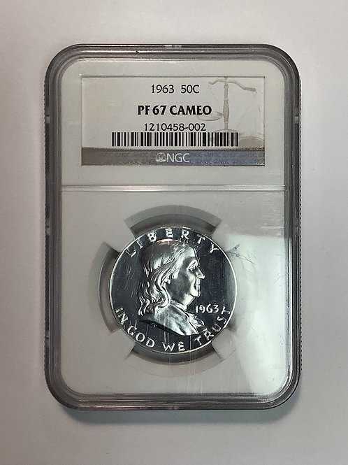1963 PF 67 Cameo Franklin Half Dollar