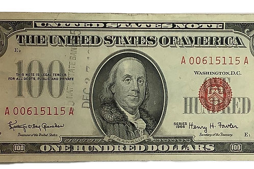 1966 series $100.00 Note Red Seal