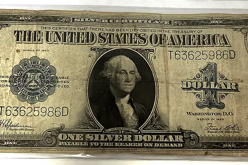 1923 SERIES $1 SILVER CERTIFICATE  WOODS/WHITE