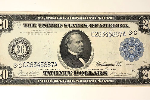 $20 Federal Reserve Note 1914