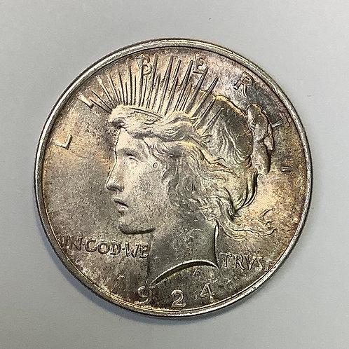 1924 Peace Dollar UNC