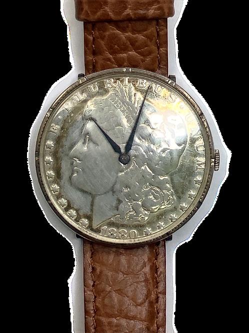 1880 Morgan Dollar Wristwatch