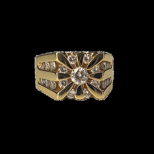 14K Men's Diamond Ring 2.03cttw