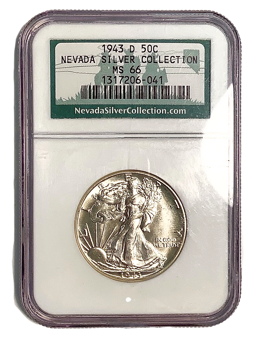 1943 D MS 66 Nevada Silver Collection