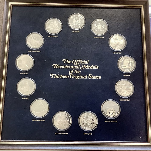 THE OFFICIAL  BICENTENNIAL  MEDALS OF THE THIRTEEN ORIGINAL  STATES
