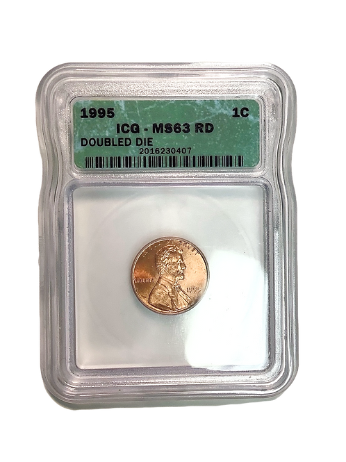 1995 Double Die Lincoln Memorial Cent MS 63