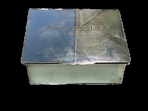 Waccabuc H.S Cigarette Case Solid Sterling silver