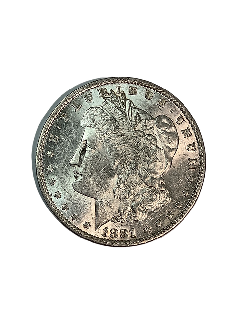 1881 o Morgan Dollar AU+