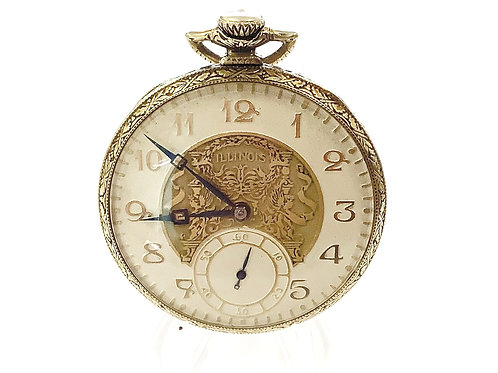 1942 ILLINOIS  POCKET WATCH SIZE 12