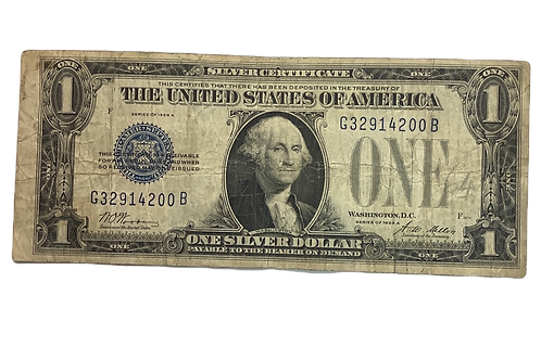 $1 note series of 1928 a  blueseal
