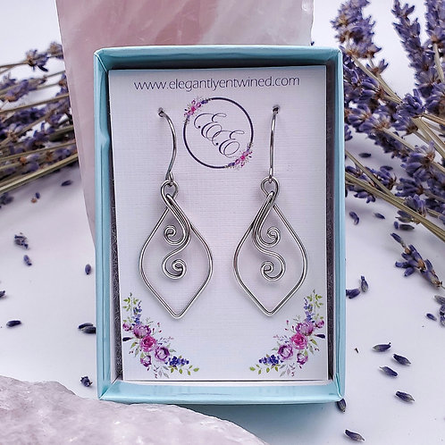 Perfect Everyday Swirly Earrings in Silver - 1.25 inch