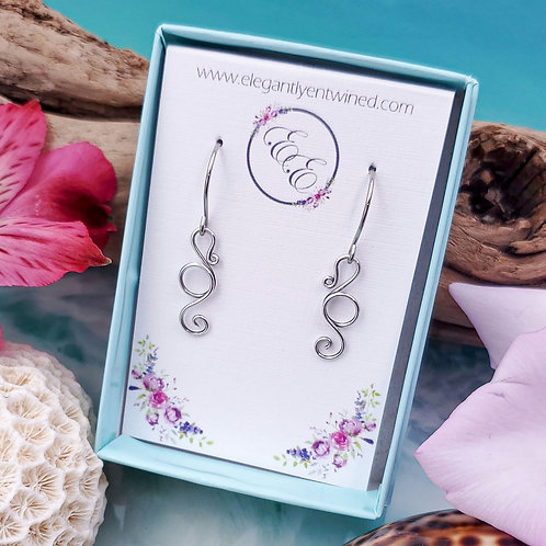Tiny Seahorse Earrings in Silver