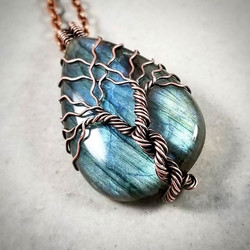 This pendant was a gift for a friend of mine who is getting married! I love the look of the two tree