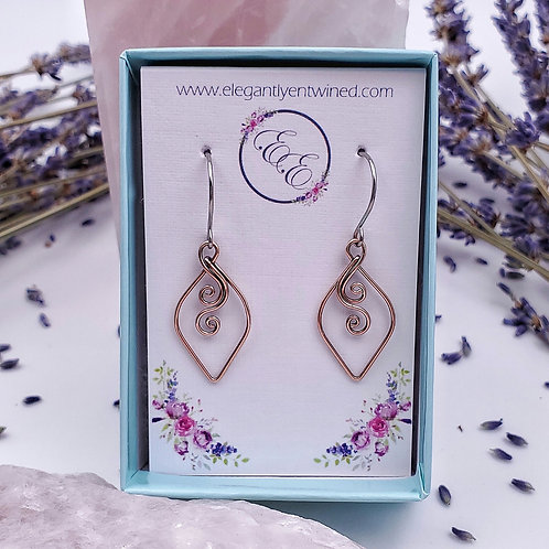 Perfect Everyday Swirly Earrings in Copper - 1 Inch