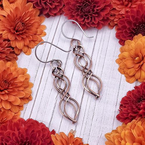 Celtic Earrings in Copper (1.5 inch)