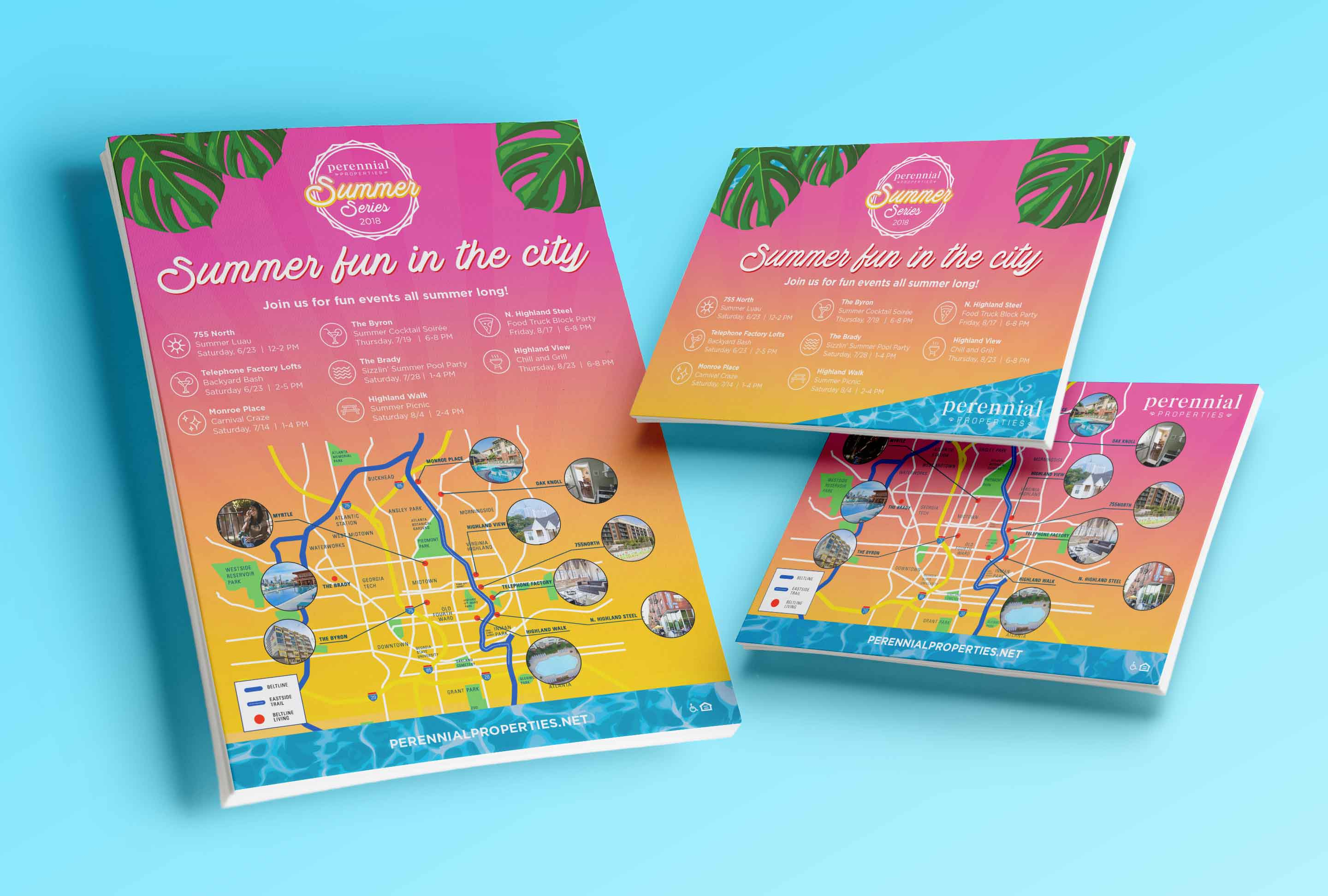 Summer Series Flyer and Postcard