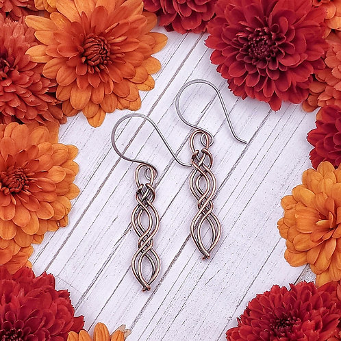 Celtic Earrings in Copper (1.25 inches)