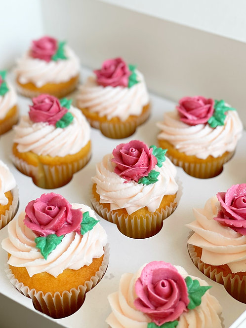 Roses for Mom Cupcakes