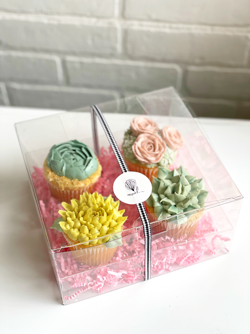 Succulent Cupcake Gift Box