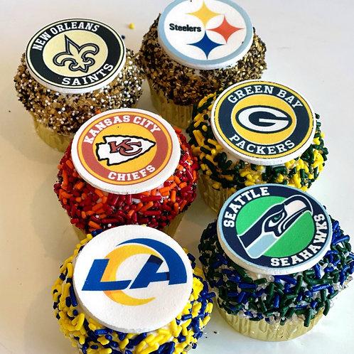 Super Bowl LV Cupcakes