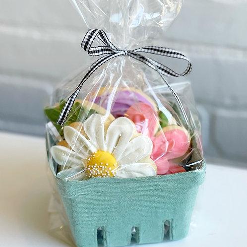 Flower Cookie Gift Basket