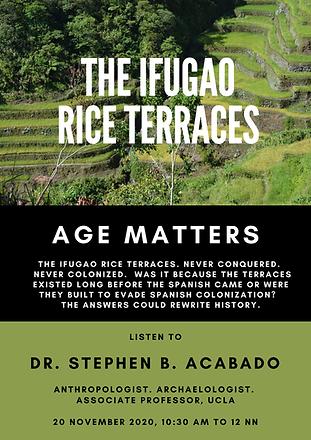 2020-11-20 Dr Stephen Acabado on Ifugao