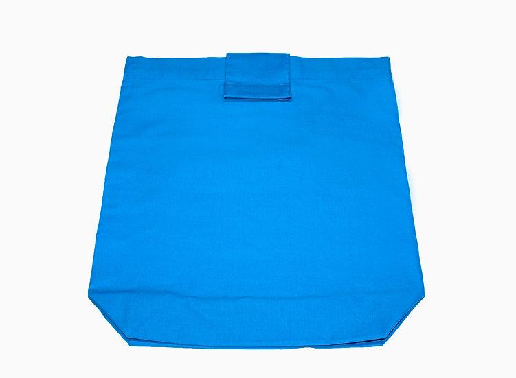 Blue Organic Cotton Tote Bag
