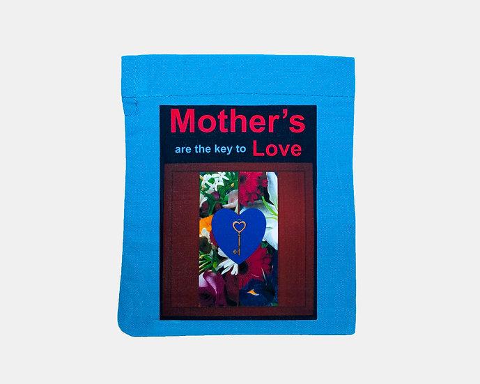 Key and Flowers Mini Tote Bag