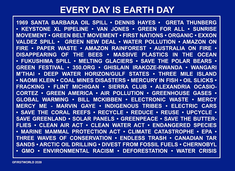 Everyday is Earth Day Blue Wall Art