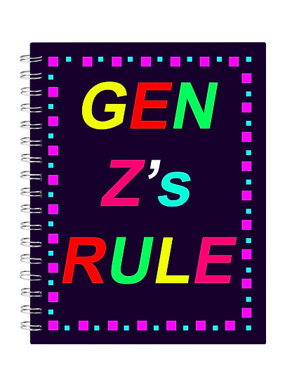 Generation Z Squares Notebook