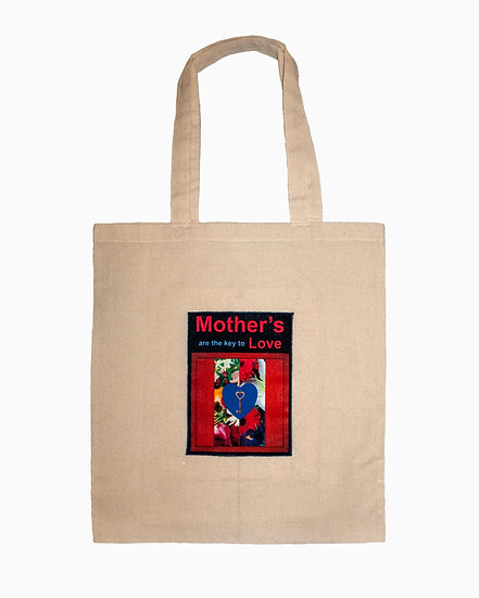 Key and Flowers Canvas Tote