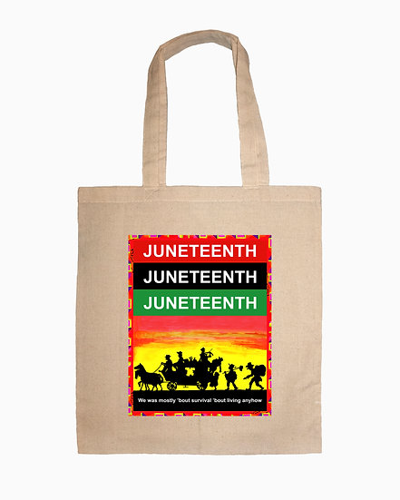 Juneteenth Canvas Tote