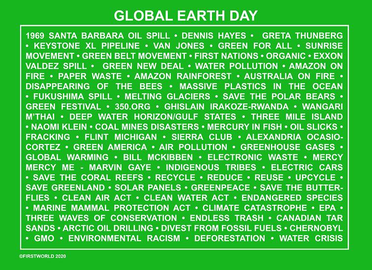 Global Earth Day Green Wall Art