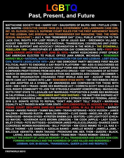 LGBTQ History Poster
