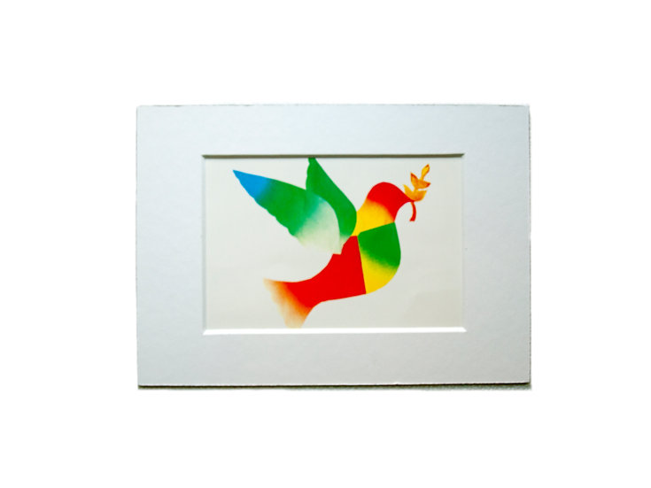 Framed Peace Dove