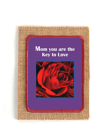 Lovely Roses Jute Greeting Card with Verse