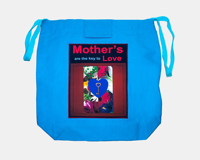 Key and Flowers Tote Bag