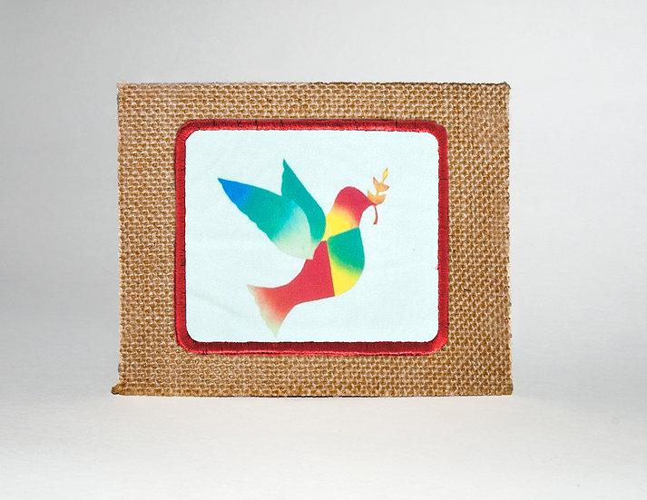 Peace Dove Jute Greeting Card