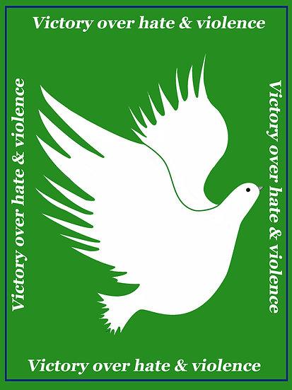 Green Peace Dove VOV&H Wall Art