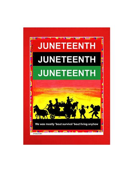 Juneteenth Matte Framed Poster