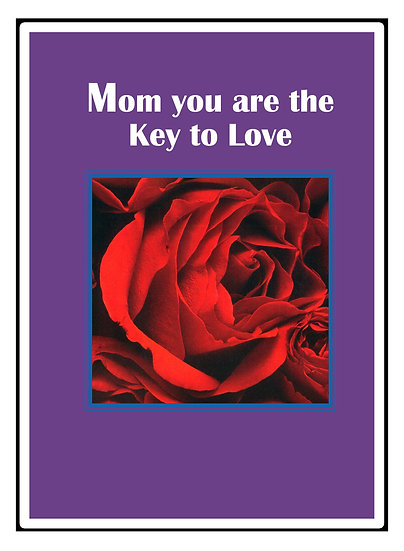 """Lovely Roses 4"""" x 5"""" Postcard with Verse - Set of 2"""