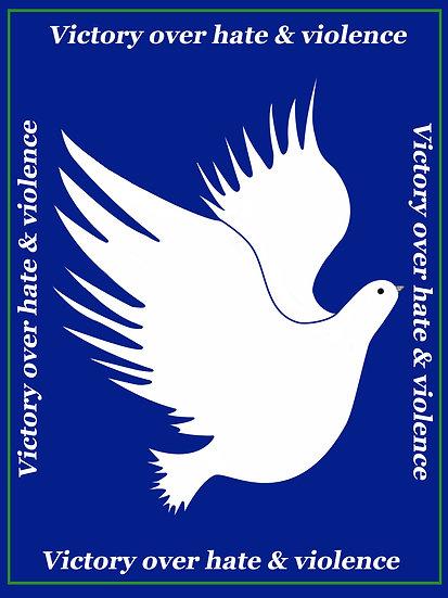 Blue Peace Dove VOV&H Wall Art