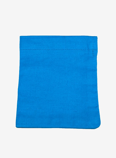 Mini Blue Organic Cotton Bag