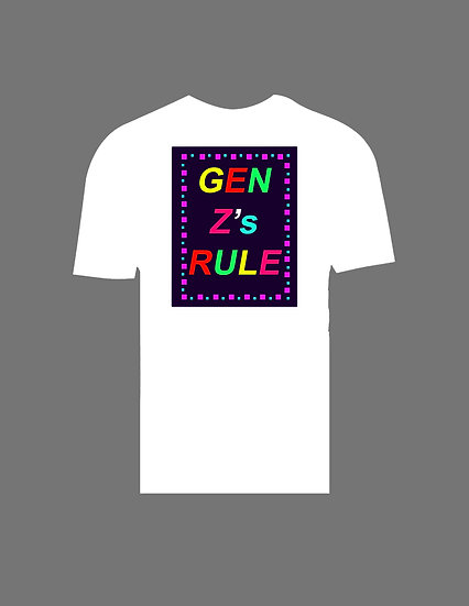 Gen Z Squares T-Shirt in White
