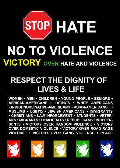Stop Hate Postcard - Set of 4