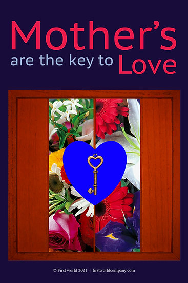 Key and Flowers Postcard