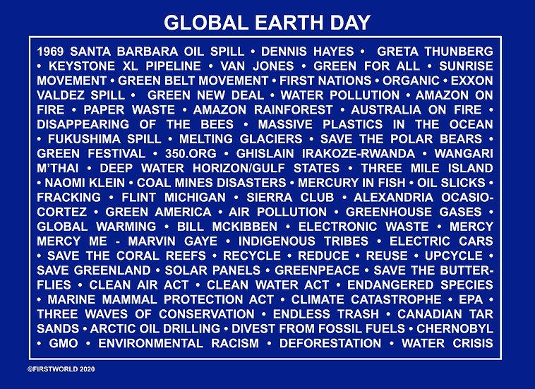 Global Earth Day Blue Wall Art
