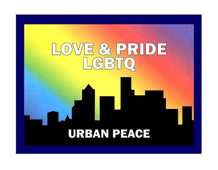 LGBTQ Rainbow Sky Blue Matte Framed Poster