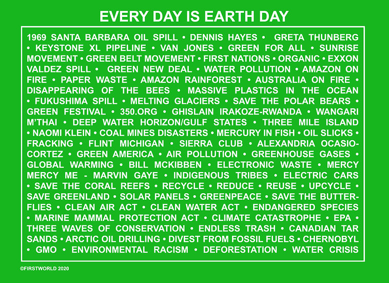 Everyday is Earth Day Green Wall Art