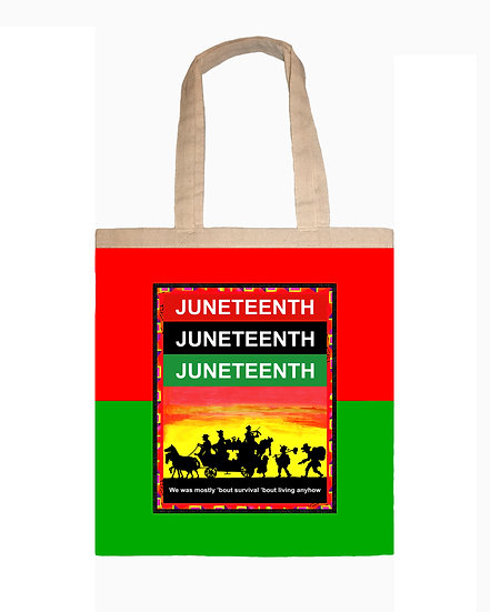 Juneteenth Canvas Tote With Embroidery